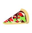 cartoon pizza slice graphic vector image