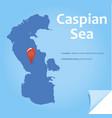 caspian sea vector image