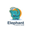 cheerful elephant mascot cartoon logo vector image
