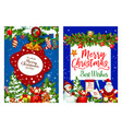christmas holiday gifts greeting card vector image vector image