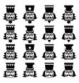Christmas nutcracker - soldier figurine head black vector image vector image