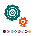 cog gear icons set cogs gears symbols isolated on vector image vector image