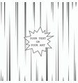comic book speed lines template vector image vector image