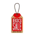 commercial tag design vector image vector image