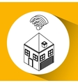 connection wifi house icon vector image vector image