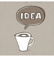 cup of idea vector image vector image