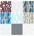 curve wavy lines seamless patterns set repeat vector image vector image