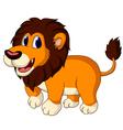cute lion cartoon walking vector image vector image