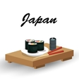 delicious food japanese icon vector image vector image