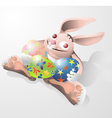Easter rabbit funny vector image