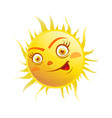 excited face on sun vector image vector image