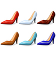 Fashionable female shoes vector image vector image