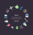 flat space icons in circle shape with place vector image vector image