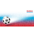 geometric background russia 2018 flag soccer vector image