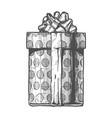hand drawn gift boxe vector image vector image