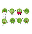 happy watermelon cartoon character vector image vector image