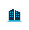 high rise buildings icon colored symbol premium vector image