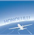 honolulu flight destination vector image vector image