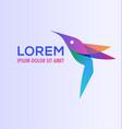 hummingbird logo design vector image