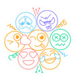 icon with smiles and emotions vector image vector image