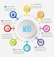 Infographic template with camera icons