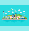 innovation eco friendly cityscape vector image