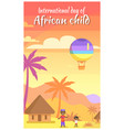international day of african child poster in frame