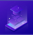 isometric learning online concept vector image