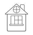 line house with roof and window vector image