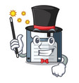 magician floppy disk in the writing wallet vector image vector image