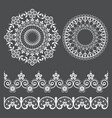 mandala lace pattern and seamless design vector image vector image