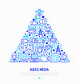 mass media concept in triangle vector image vector image
