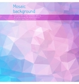 Mosaic abstract background with triangles vector image vector image