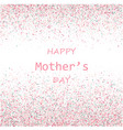 mother s day card blue and pink paint vector image vector image