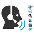 Operator Speech Sound Waves Icon With Free Bonus vector image vector image