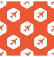 Orange hexagon plane pattern vector image vector image
