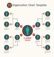 Organization chart template business presentation vector image