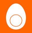 piece egg white icon vector image