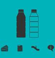 plastic bottle icon flat vector image vector image