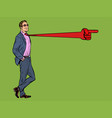 positive businessman male tie direction pointer vector image vector image