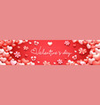 realistic valentines day banner background cute vector image vector image