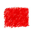 red pen scribble texture stain isolated on white vector image