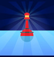 red plastic buoy with lighter in blue water vector image vector image
