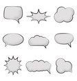 set empty comic speech bubbles with with noise vector image vector image