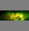shiny neon lights background techno design vector image vector image