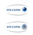 sign of eye clinic vector image