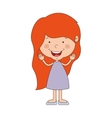silhouette girl redhead with dress vector image vector image