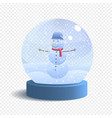snow globe isolated on white background vector image vector image