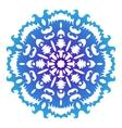 Snowflake Christmas pattern Circular ornament vector image vector image