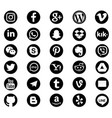 social media icons pack vector image